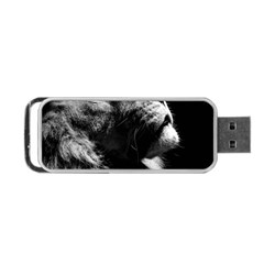 Male Lion Face Portable Usb Flash (one Side)