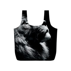 Male Lion Face Full Print Recycle Bags (s)