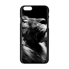Male Lion Face Apple Iphone 6/6s Black Enamel Case