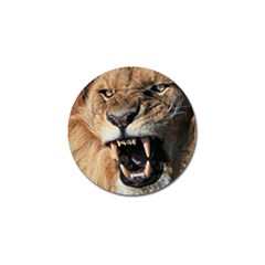 Male Lion Angry Golf Ball Marker (4 Pack)