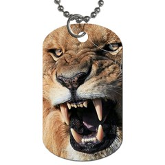 Male Lion Angry Dog Tag (two Sides)