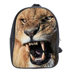 Male Lion Angry School Bag (large)