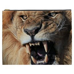 Male Lion Angry Cosmetic Bag (xxxl)