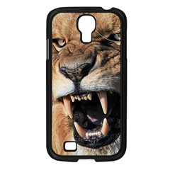 Male Lion Angry Samsung Galaxy S4 I9500/ I9505 Case (black)