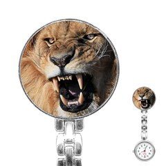 Male Lion Angry Stainless Steel Nurses Watch