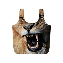 Male Lion Angry Full Print Recycle Bags (s)