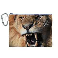 Male Lion Angry Canvas Cosmetic Bag (xl)