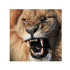 Male Lion Angry Small Satin Scarf (square)