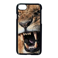 Male Lion Angry Apple Iphone 7 Seamless Case (black)