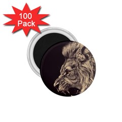 Angry Male Lion 1 75  Magnets (100 Pack)