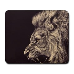 Angry Male Lion Large Mousepads