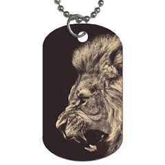 Angry Male Lion Dog Tag (one Side)