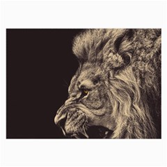 Angry Male Lion Large Glasses Cloth (2 Side)
