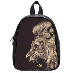 Angry Male Lion School Bag (small)