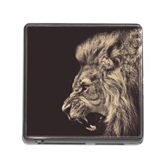 Angry Male Lion Memory Card Reader (square)