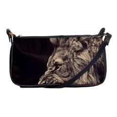 Angry Male Lion Shoulder Clutch Bags
