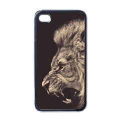 Angry Male Lion Apple Iphone 4 Case (black)