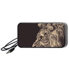 Angry Male Lion Portable Speaker