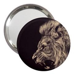 Angry Male Lion 3  Handbag Mirrors