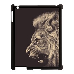 Angry Male Lion Apple Ipad 3/4 Case (black)