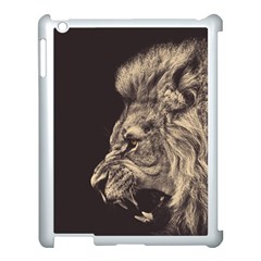 Angry Male Lion Apple Ipad 3/4 Case (white)