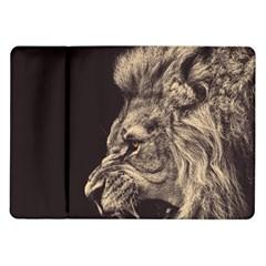 Angry Male Lion Samsung Galaxy Tab 10 1  P7500 Flip Case