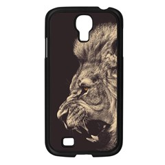 Angry Male Lion Samsung Galaxy S4 I9500/ I9505 Case (black)