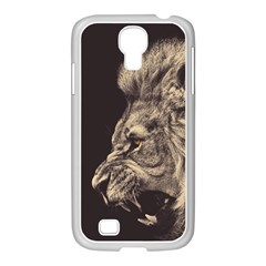 Angry Male Lion Samsung Galaxy S4 I9500/ I9505 Case (white)