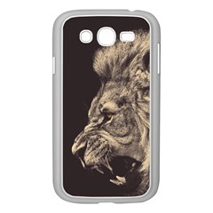 Angry Male Lion Samsung Galaxy Grand Duos I9082 Case (white)