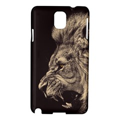 Angry Male Lion Samsung Galaxy Note 3 N9005 Hardshell Case