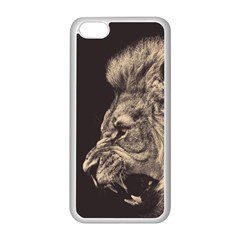 Angry Male Lion Apple Iphone 5c Seamless Case (white)