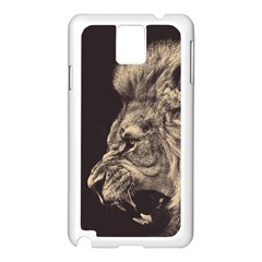 Angry Male Lion Samsung Galaxy Note 3 N9005 Case (white)