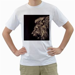 Angry Male Lion Men s T Shirt (white)