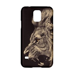 Angry Male Lion Samsung Galaxy S5 Hardshell Case