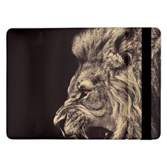 Angry Male Lion Samsung Galaxy Tab Pro 12 2  Flip Case