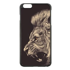 Angry Male Lion Apple Iphone 6 Plus/6s Plus Black Enamel Case