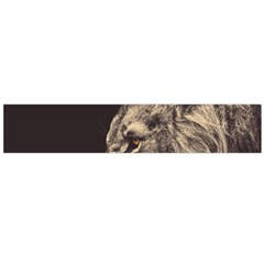 Angry Male Lion Large Flano Scarf