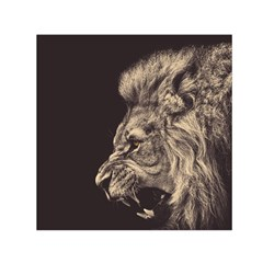 Angry Male Lion Small Satin Scarf (square)