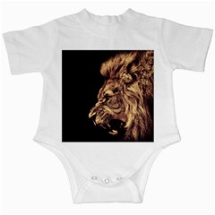 Angry Male Lion Gold Infant Creepers