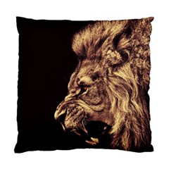Angry Male Lion Gold Standard Cushion Case (one Side)