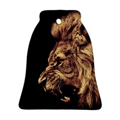 Angry Male Lion Gold Ornament (bell)