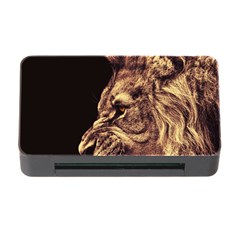Angry Male Lion Gold Memory Card Reader With Cf