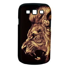 Angry Male Lion Gold Samsung Galaxy S Iii Classic Hardshell Case (pc+silicone)
