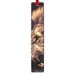 Angry Male Lion Gold Large Book Marks