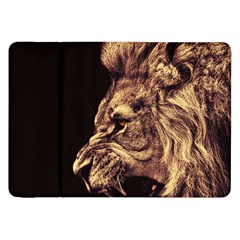 Angry Male Lion Gold Samsung Galaxy Tab 8 9  P7300 Flip Case
