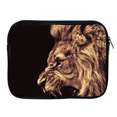 Angry Male Lion Gold Apple Ipad 2/3/4 Zipper Cases