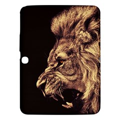 Angry Male Lion Gold Samsung Galaxy Tab 3 (10 1 ) P5200 Hardshell Case