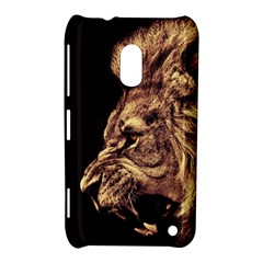 Angry Male Lion Gold Nokia Lumia 620