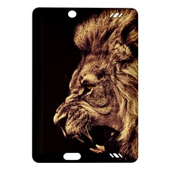 Angry Male Lion Gold Amazon Kindle Fire Hd (2013) Hardshell Case