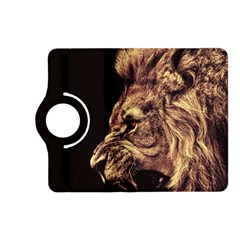 Angry Male Lion Gold Kindle Fire Hd (2013) Flip 360 Case